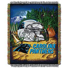 Officially Licensed NFL Home Field Advantage Throw Blanket - Panthers