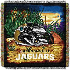 Officially Licensed NFL Home Field Advantage Throw Blanket - Jaguars