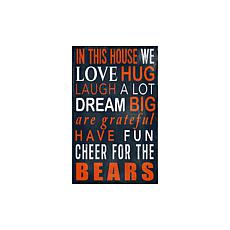 Officially Licensed NFL In This House Sign - Chicago Bears