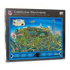 Officially-Licensed NFL Joe Journeyman Puzzle - Carolina Panthers