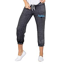 Officially Licensed NFL Knit Capri Pant by Concept Sports - Panthers