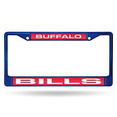 Officially Licensed NFL Laser-Cut Chrome License Plate Frame -  Bills