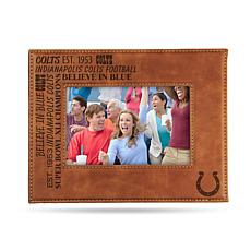 Officially Licensed NFL Laser Engraved Brown Picture Frame - Colts
