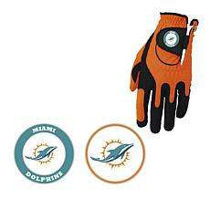 Officially Licensed NFL Left Hand Golf Glove by Zero Friction