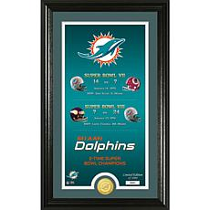"""Officially Licensed NFL """"Legacy"""" Bronze Coin Photo Mint - Dolphins"""