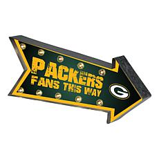 Officially Licensed NFL Light-Up Arrow Marquee Sign by Team Beans