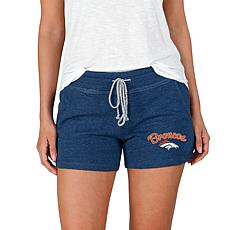 Officially Licensed NFL Mainstream Ladies Knit Shorts - Broncos