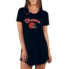 Officially Licensed NFL Marathon Nightshirt by Concept Sports - Browns