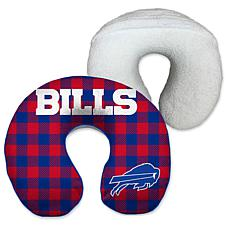 Officially Licensed NFL Memory Foam Travel Pillow - Buffalo Bills