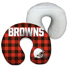 Officially Licensed NFL Memory Foam Travel Pillow - Cleveland Browns