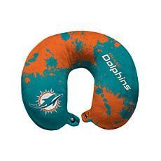 Officially Licensed NFL Memory Foam Travel Pillow - Miami Dolphins