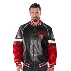 Officially Licensed NFL Men s Faux Leather Varsity Jacket by ... 37f234347