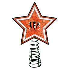 Officially Licensed NFL Mosaic Tree Topper - Bengals