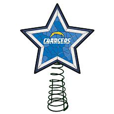 Officially Licensed NFL Mosaic Tree Topper - Chargers