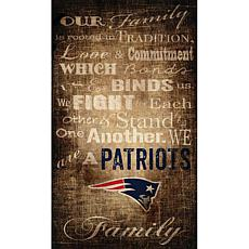 Officially Licensed NFL Our Family Canvas