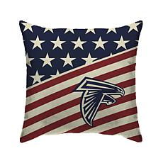 Officially Licensed NFL Pegasus Sports Americana Pillow - Falcons