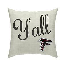 Officially Licensed NFL Pegasus Sports Y'all Pillow - Falcons