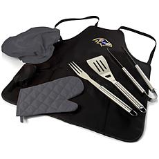 Officially Licensed NFL Picnic Time Apron Tote Pro Grill Set - Ravens