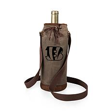 Officially Licensed NFL Picnic Time Waxed Canvas Wine Tote Bengals