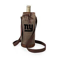 Officially Licensed NFL Picnic Time Waxed Canvas Wine Tote - NY Gia...