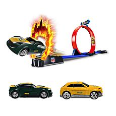 Officially Licensed NFL Racers - 2 Cars & Track Set- Green Bay Packers