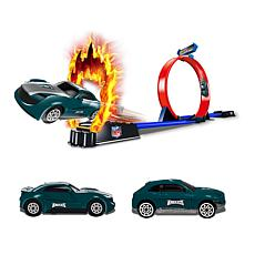 Officially Licensed NFL Racers - 2 Cars & Track Set - Philly Eagles