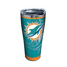 Officially Licensed NFL Rush Stainless Steel Tumbler - Miami Dolphins