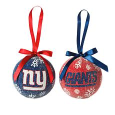 Officially Licensed NFL Set of 6 Ornaments