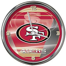 best service c80c0 366b7 Officially Licensed NFL Shadow Chrome Clock - 49ers