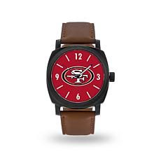 "Officially Licensed NFL Sparo ""Knight"" Faux Leather Watch - 49ers"