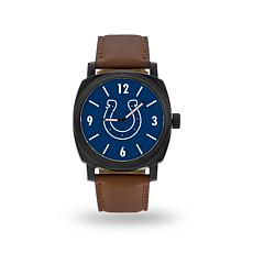 "Officially Licensed NFL Sparo ""Knight"" Faux Leather Watch - Colts"