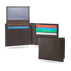 Officially Licensed NFL Sparo Shield Leather Billfold - Dolphins