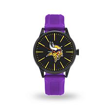 "Officially Licensed NFL Sparo Team Logo ""Cheer"" Strap Watch - Vikings"