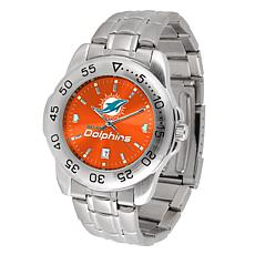 Officially Licensed NFL Sport Steel Series Watch - Miami Dolphins