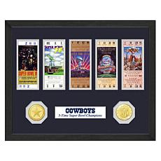 Officially Licensed NFL Super Bowl Champion Ticket and Coin Collection