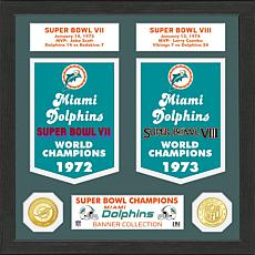 Officially Licensed NFL Super Bowl Collection Photo Mint - Dolphins