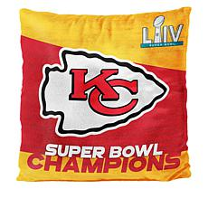 Officially Licensed NFL Super Bowl LIV Champions Pillow - Chiefs