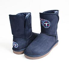 Officially Licensed NFL Team Color Boot with Crystal Logo by Cuce