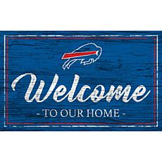 Officially Licensed NFL Team Color Sign - Buffalo Bills