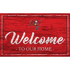 Officially Licensed NFL Team Color Sign - Tampa Bay Buccaneers