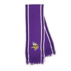 Officially Licensed NFL Team-Color Stripe Fringe Scarf - Vikings
