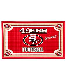 Officially Licensed NFL Team Logo Embossed Doormat - 49