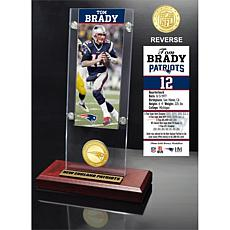 Officially Licensed NFL Tom Brady Desktop Ticket/Bronze Coin Holder