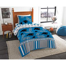 Officially Licensed NFL Twin Bed In a Bag Set - Carolina Panthers