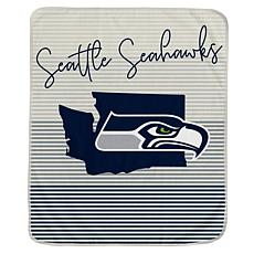 Officially Licensed NFL Ultra Fleece State Stripe Blanket - Seahawks