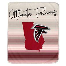 Officially Licensed NFL Ultra Fleece State Stripe Blanket - Falcons