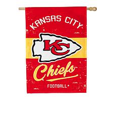 Officially Licensed NFL Vintage Linen House Flag - Chiefs