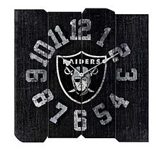 Officially Licensed NFL Vintage Square Clock