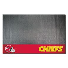 Officially Licensed NFL Vinyl Grill Mat  - Kansas City Chiefs