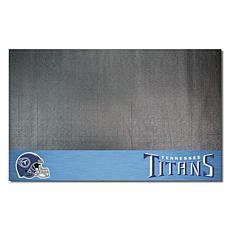 Officially Licensed NFL Vinyl Grill Mat  - Tennessee Titans